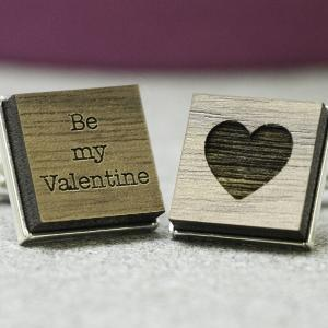 be my valentine personalised cufflinks