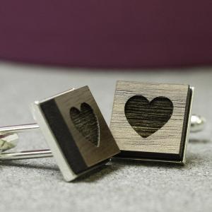 secret heart valentines cufflinks