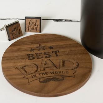best dad coaster and cufflinks 1
