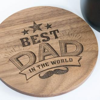 best dad in the world drinks coaster
