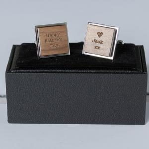 Happy Fathers Day Heart Cufflinks