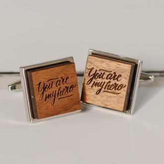 you are my hero cufflinks