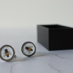 vintage style bee cufflinks
