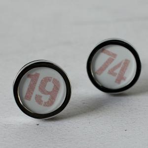 personalised birth year cufflinks