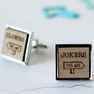 clowns to the left of me cufflinks