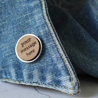 Custom personalised lapel pin badge