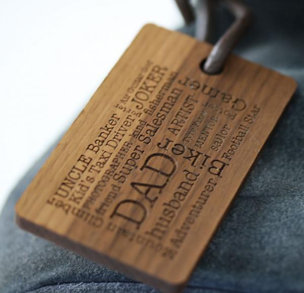 personalised word cloud luggage tag
