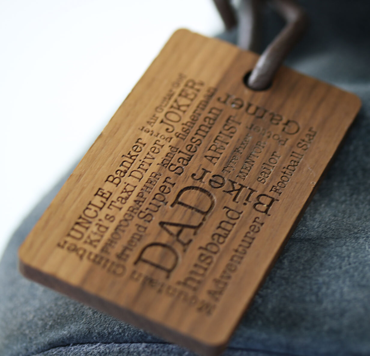 personalised word cloud luggage tag