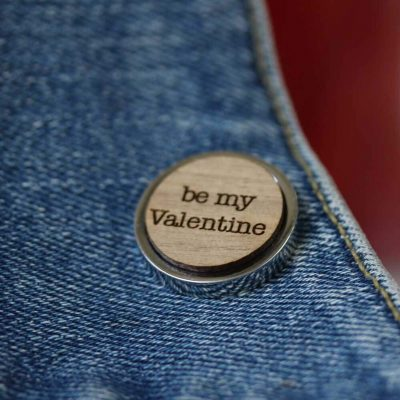 be my valentine pin badge
