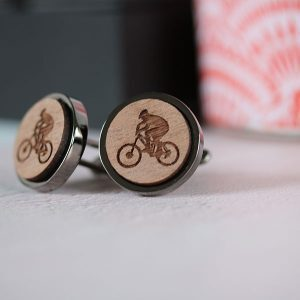 mountain biker cufflinks