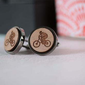 mountain biker cufflinks