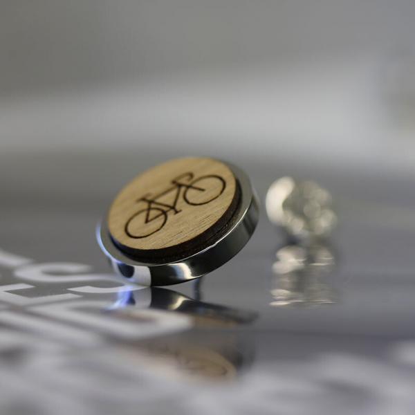 Cyclist Lapel Pin Badge