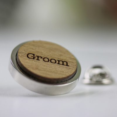 wedding party lapel pin badge
