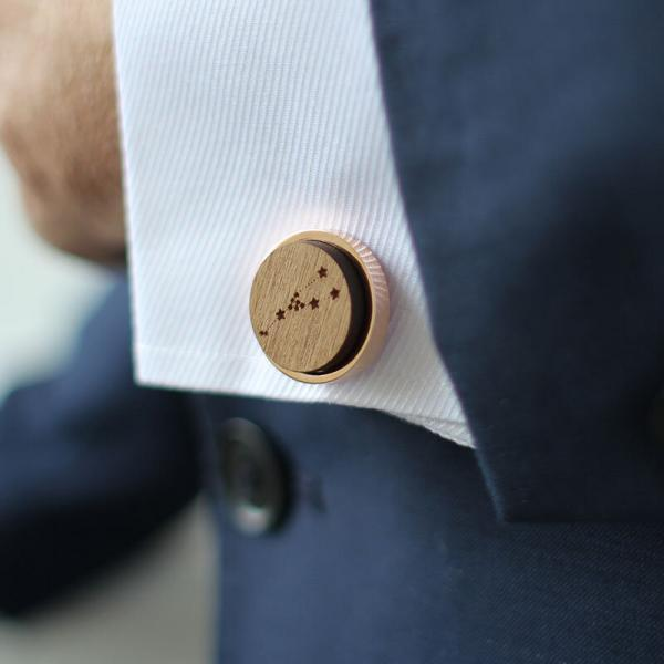 rose gold constellation cufflinks