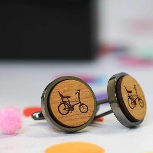 Retro Raleigh Chopper Round Cufflinks