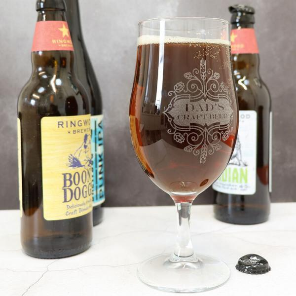 an image of a personalised craft beer glass
