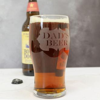 an image of a personalised pint glass