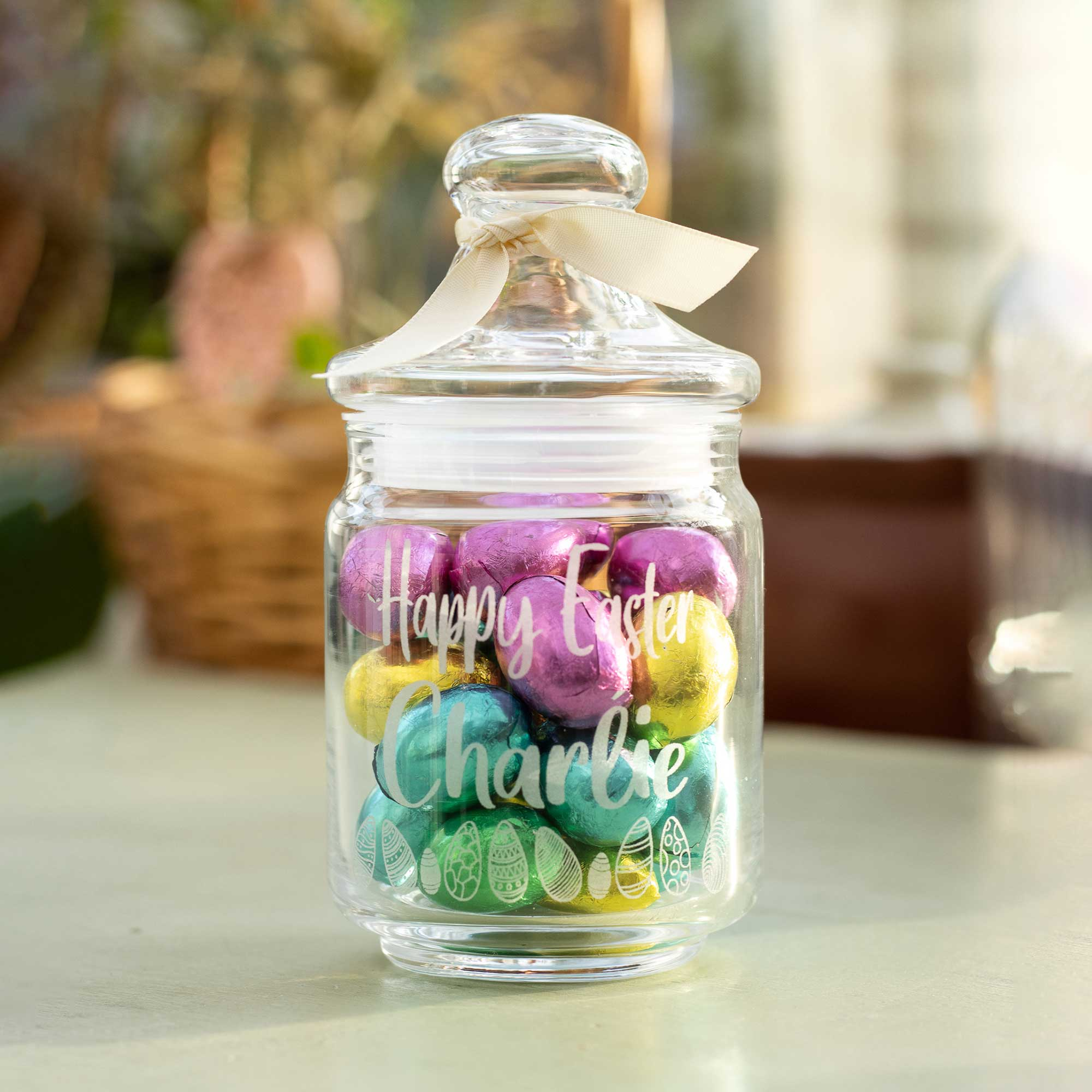 Personalised Chocolate Easter Jar