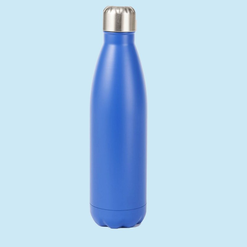 blue insulated bottle