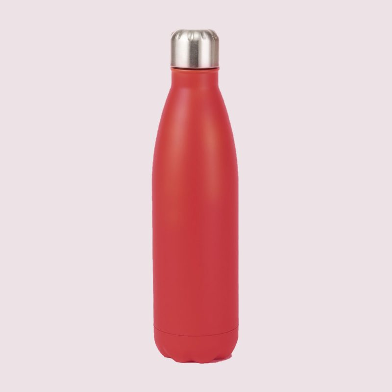red insulated bottle