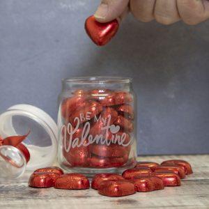 valentines chocolate sweet jar
