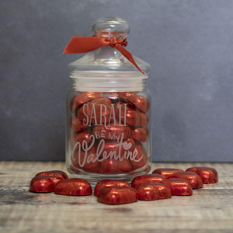 personalised valentines day sweet jar