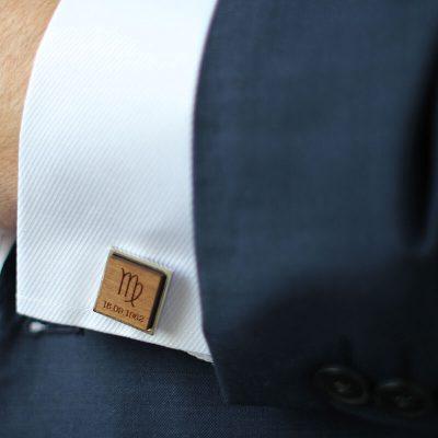 starsign square cufflinks