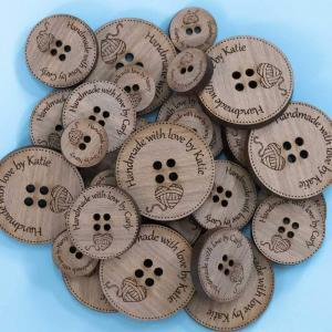 knitters engraved buttons