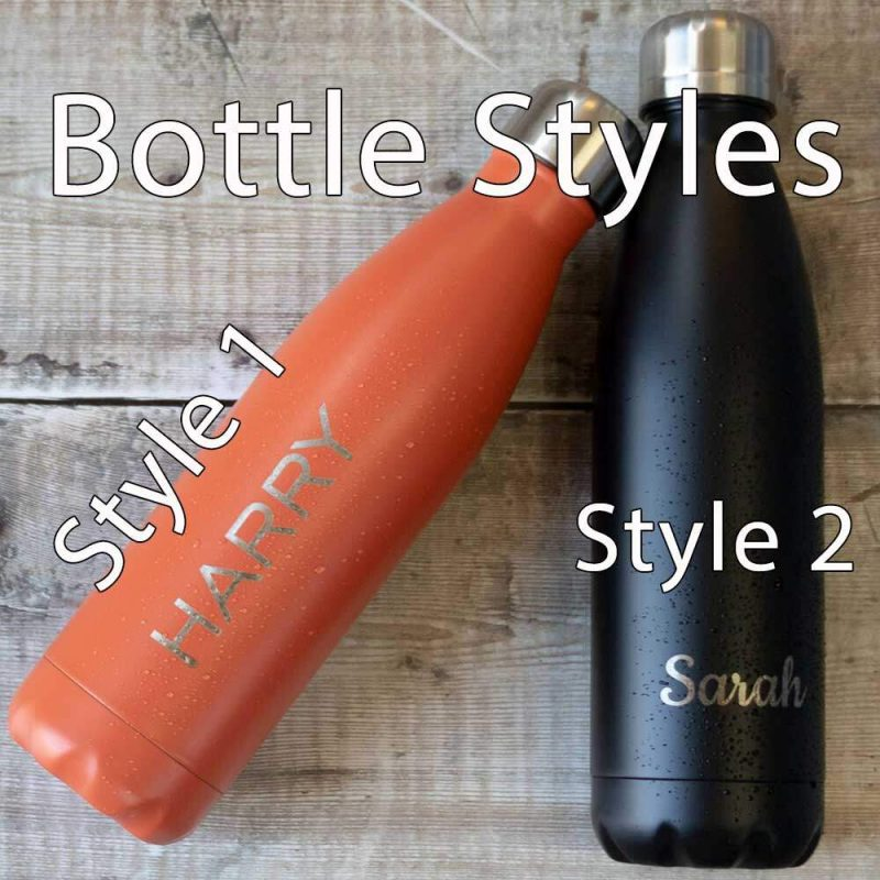 engraved water bottle styles