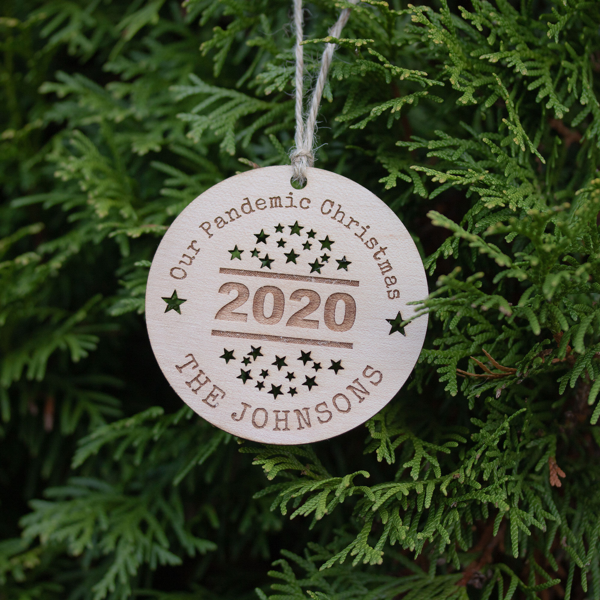 Personalised Wooden Pandemic Christmas Tree Decoration Rocketboy Gifts